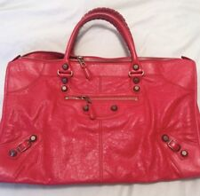 Balenciaga Weekender - red with giant rose gold hardware