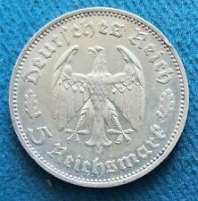 Allemagne. 3e Reich.  5 reichsmark 1934 F. Friedrich Schiller. Condition TTB/SUP