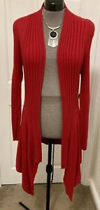 Marks & Spencer Size 14 Red Waterfall Cardigan - Lovely Comfortable & Warm