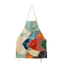 Cute Cartoon Apron Japanese Style Lovely Fish Pattern Apron For Women Men Apron