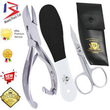 Toe Nail Clippers Cutters Nails Chiropody Nail Lifter CE Stainless Steel 3 Tools