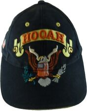 Hooah it's a Army Thing Strapback Adjustable Cap Hat Blue Yellow US Flag Eagle