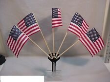 VINTAGE STYLE  BICYCLE 5 FLAG HOLDER - FREE FLAGS