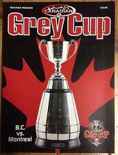 Rare CFL Football 88th Grey Cup Calgary 2000 Program BC Lions Vs. Montreal