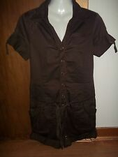 womans brown cargo style playsuit from next size 8 in v good condition