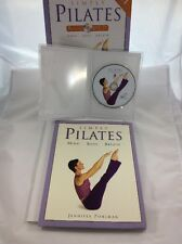 SIMPLY PILATES Box Set 64 pg Book + DVD Pohlman Mind Body Breath, #1 Best Seller