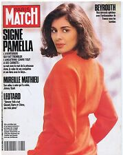 COUVERTURE DE MAGAZINE PARIS MATCH 2084 04/05/89 Pamela Miss Inde