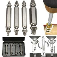 4pcs Screw Extractor Drill Bits Guide Set Broken Damaged Bolt Remover Spedly