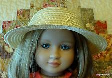 "MY TWINN Synthetic Straw Weave DOLL HAT Dress fits 23"" Poseable Doll Accessory"