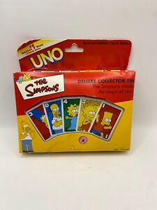 2001 The Simpsons Uno Special Edition Card Game with Deluxe Collector Tin #00503