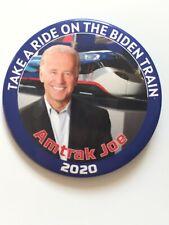 """2020 Vice President Joe Biden for President 3"""" Button Amtrak Joe Take A Ride Pin"""