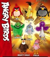 ANGRY BIRDS MOVIE - Assorted Characters Plush Soft Doll Toy 18cm BNWT RED, CHUCK