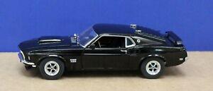 Danbury Mint 1:24 1969 Ford Mustang Boss 429 raven Black Exc (Not Boxed)
