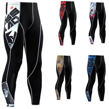 Men's Compression Workout Legging Gym Base Layer Long Sport Pants Sports Dry