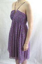 Wayne Cooper Size 10 Purple and Grey Casual Dress