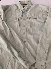 Simms Cor3 Mens Button Front Green Vented Fishing Shirt Size XLT Cotton Blend