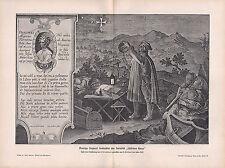 1903 ASTRONOMY GERMAN PRINT AMERIGO VESPUCCI SOUTHERN CROSS CONSTELLATION (1522)