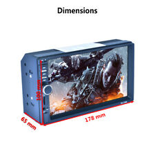 7'' 2DIN Touch Screen MP5 Player w/ GPS Bluetooth RDS Quick Charger Radio Stereo