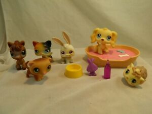 Lot of 6 Littlest Pet Shop Toys & Accessories Horse Cat Bunny Dog Ferret #11