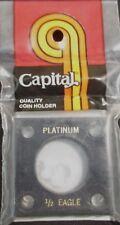 "CAPITAL PLASTICS: 2""X 2"" 1/2 OZ PLATINUM EAGLE COIN DISPLAY W/FREE SHIPPING!!"