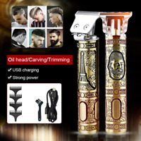 New Retro Electric Hair Clippers Professional Men Cordless Trimmer Beard Shaver