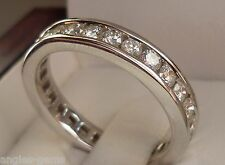 NEW 1ct Diamond Anniversary Eternity Channel-Set Ring Band 14K White Gold Sz 5