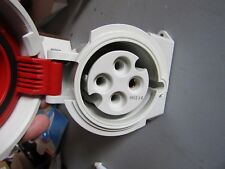 Mennekes IP67 Red Wall Mount 4P Right Angle Industrial Power Socket 1005 0459957