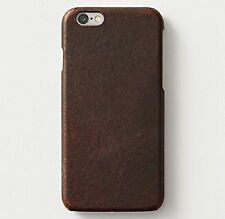iPhone 6/6s PLUS Case - Restoration Hardware Genuine Italian Leather Hard Brown
