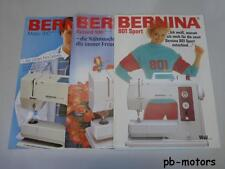 . Original 3x Bernina Nähmaschine Prospekt 801 Sport + Matic 910 Record 930