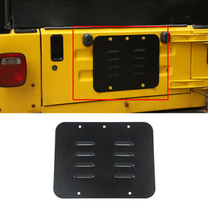 Car Spare Tire Carrier Delete Filler Grille for Jeep Wrangler TJ 1997-2006 Black