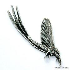 Mayfly Fishing Pewter Pin Brooch Badge - UK Hand Made- Nymph Fly Angling Gift