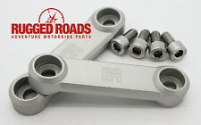 Rugged Roads Passenger Peg Covers - Silver - 2016+ Honda CRF1000L Africa Twin