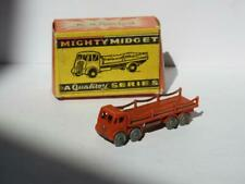BENBROS QUALITOY V. RARE 1954 BOXED MIGHTY MIDGET #28 FODEN CHAIN LORRY RED GMW