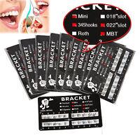 20 Packs Dental Orthodontic Metal Brackets Brace Mini MBT Slot 022 Hooks 3-4-5