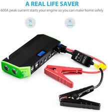 600A Peak Current Car Jump Starter with 10000mAh Portable 4-Port USB Power Bank