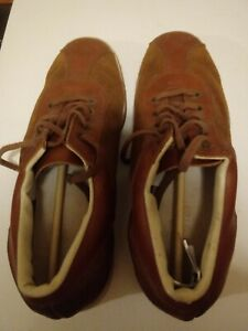 Vintage Brunswick Bowling Shoes Men's Size 9 Brown Suede Leather