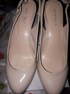 Kurt Geiger Atomic Nude Beige Synthetic Court Shoes Size 8 Rrp £75