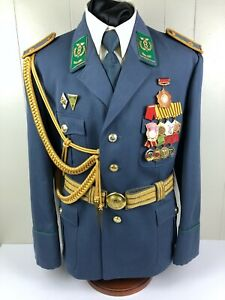 Rare East German DDR Customs Zoll General Uniform with Medals Badges
