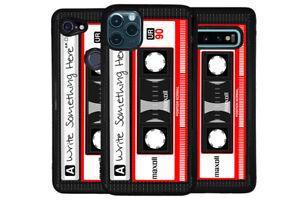 Retro Black Casette Tape Personalized Phone Case for Apple Samsung LG Google