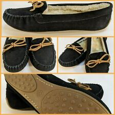New Lucky Brand Women's Shoes Slippers Loafers Suede Leather Moccasins Size 11