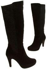 High (3-4.5 in.) Casual Textile Women's Heels