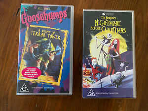 Goosebumps And A Nightmare Before Christmas VHS Tapes Great Condition