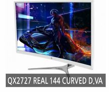 """[QNIX]QX2727 REAL 144 CURVED D.VA  27"""" Monitor PURE WHITE 144 CURVED 27"""" Monitor"""