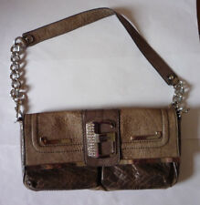 GUESS BROWN FAUX LEATHER SHOULDER BAG - VERY GOOD CONDITION