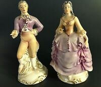 JABESON FIGURINES VINTAGE 1944  SET OF 2. VICTORIAN MAN & WOMAN 6 ""