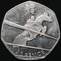 2011 | Elizabeth II London 2012 'Equestrian' 50p | Cupro-Nickel | KM Coins