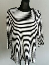 Marks & Spencer womens viscose blend 3/4 sleeve striped tops size UK 20 EUR 48