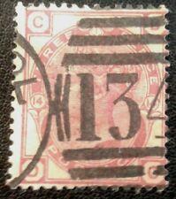 Duzik: Gb Qv Sg143 3d. red D-C Pl.14 used stamp (No.2220) *