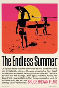 The Endless Summer Retro Movie Poster 24x36
