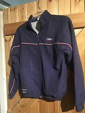 "Boys LB  Chest 30""/31"" Umbro Jacket. Navy Blue Official Umbro Jacket Large Boys"